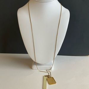 Madewell long hanging two tone necklace
